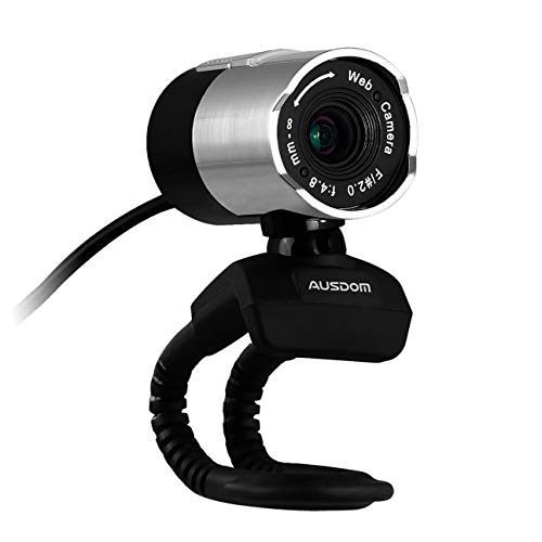 Ausdom Full HD 1080p Webcam, Widescreen Camera for Video Calling and Recording, USB Webcam with Microphone, Computer Laptop Camera, Compatible for Windows 8/7/Vista/XP Skype FaceTime Yahoo Messenger