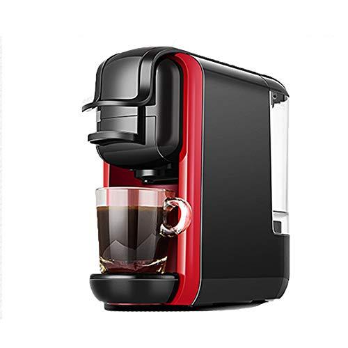 Espresso, Mini-Automatique Machine à café en Capsules Anti-Marche à Sec, Turn-Off Automatique Feature (autoportant, Machine à café en Capsules, 19Bars de Pression),Rouge