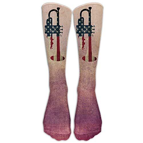 GHJL Socken, Trompete, amerikanische Flagge, bequem, kühl, mit Belüftung, Einheitsgröße