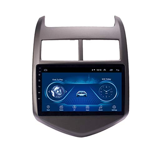 Reproductor De DVD Android 8.1 Car Multimedia System para Chevrolet Aveo (2011-2013) con WiFi Bluetooth Radio 9 Pulgadas 2.5D HD Multi-Touch Screen GPS Navigation