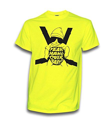 NEON T-Shirt Hangover Baby JGA Wolfsrudel Alan Junggesellenabschied Party Hochzeit (M, Neongelb)