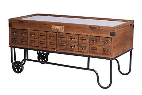 Loft Couchtisch Setzkasten Sideboard Industrie Tischvitrine Wohnzimmertisch lof021 Palazzo Exklusiv