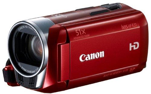 Canon デジタルビデオカメラ iVIS HF R31 レッド 光学32倍ズーム フルフラットタッチパネル IVISHFR31RD
