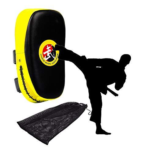 SASONCO Slagbord Kick Focus doel boxen stansen slagkussen kussen kickboxen kamsport kickschild boksplaten trapfussen gebogen training Thai pad wanten voor Thaiboxen karate UFC MMA