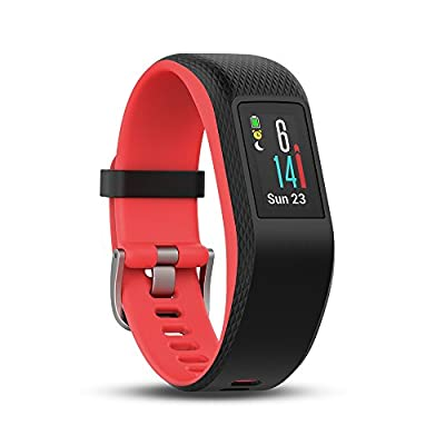 Garmin Vivosport Smart Activity Tracker with Wrist-Based Heart Rate and GPS - Pink (Fuchia), Small