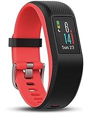 Garmin vívosport GPS-fitnesstracker, 24/7 hartslagmeting aan de pols, geïntegreerde GPS, vooraf geïnstalleerde hardloop-app, kleurenaanraakscherm met hoge resolutie, zwart/rood