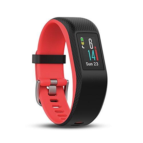 Garmin Vivosport Pulsera de Deporte con GPS y Monitor de Ritmo Cardiaco, Unisex, Negro (Fucsia), S/M