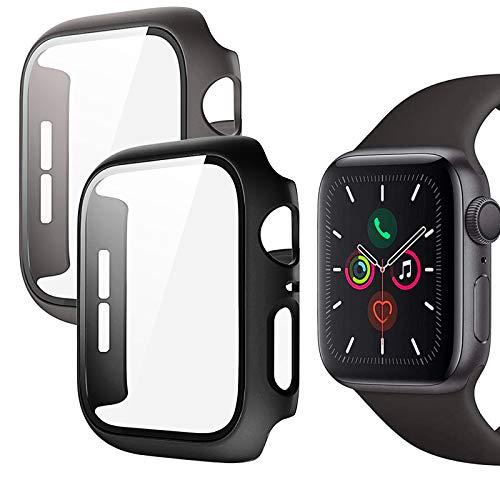 Protector Pantalla Apple Watch 44mm, 2 Piezas Funda Apple Watch Serie 6/SE/Series...