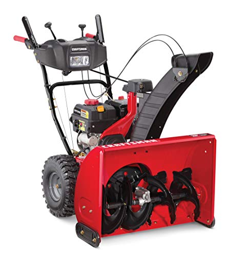 Craftsman SB470 28-in 243cc Two-Stage Gas Snow Blower with Push-Button Electric Start (CMXGBAM1054543), Liberty red