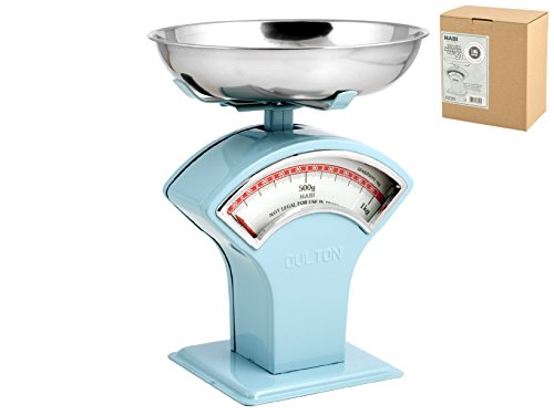 HABI 100075 Balance Cuisine Mécanique, 1 kg, métal, Bleu