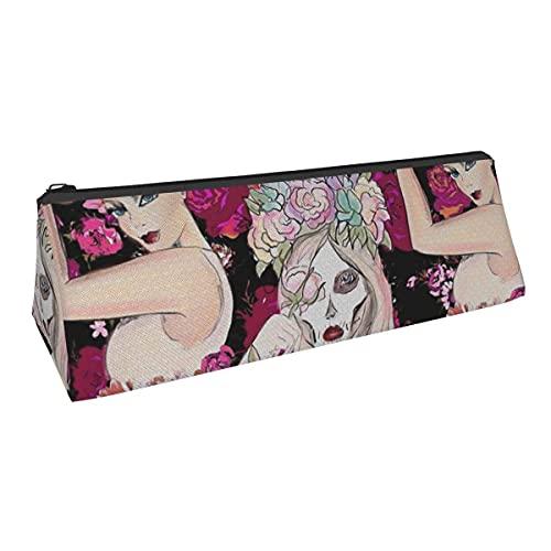 Roabilly Flora para Shelley - Bolsa de almacenamiento para bolígrafos de pequeña capacidad para niños, niñas, colegio, escuela, oficina, alicates de papelería