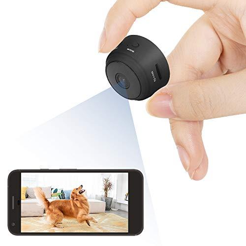 Telecamera Nascosta, 4K 1080P HD Mini Telecamera Spia Wifi Portatile Microcamera con Visione Notturna di Sorveglianza Senza Fili Spy Cam Rilevamento di Movimento per Esterno/Interno