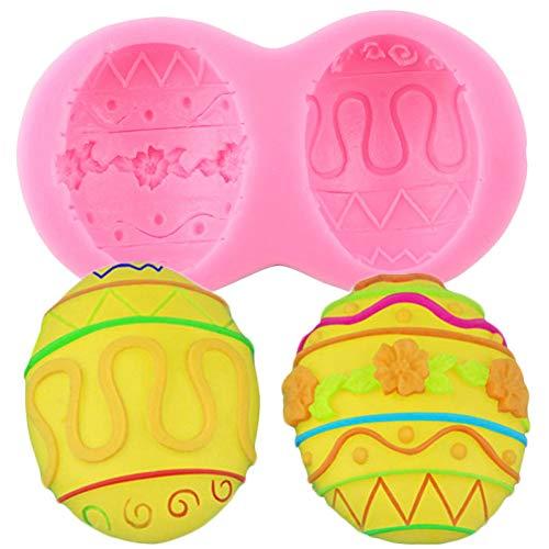 SKJH Molde de Silicona 3D Herramientas de decoración de Pasteles de Huevo Moldes para Hornear Pasteles Fondant Chocolate Candy Moldes de Arcilla polimérica