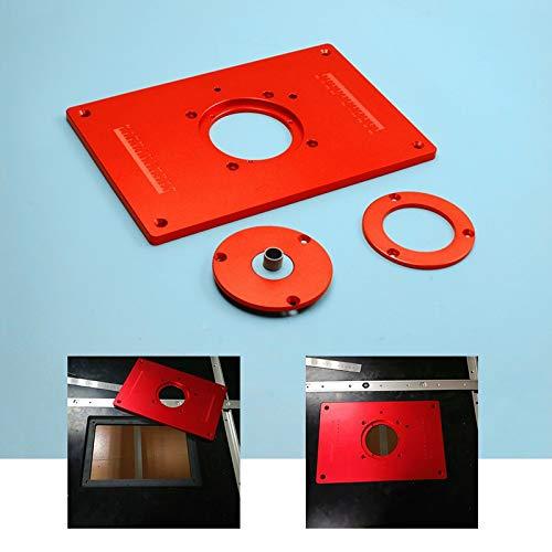 X-BAOFU, 1 placa de inserción para mesa de fresado, 200 x 300 x 10 mm, con cubierta para bricolaje banco de trabajo de carpintería de aleación de aluminio, herramientas de madera