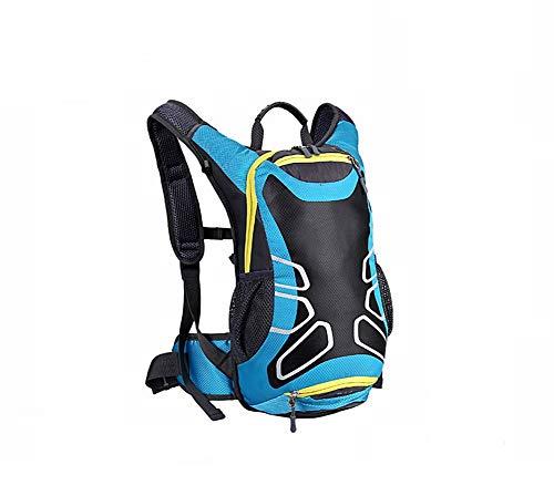 Escargot Shop 15 L Sac à dos d'équitation d'extérieur étanche sac à dos randonnée Camping Sac de voyage 5 couleurs Bleu Bleu