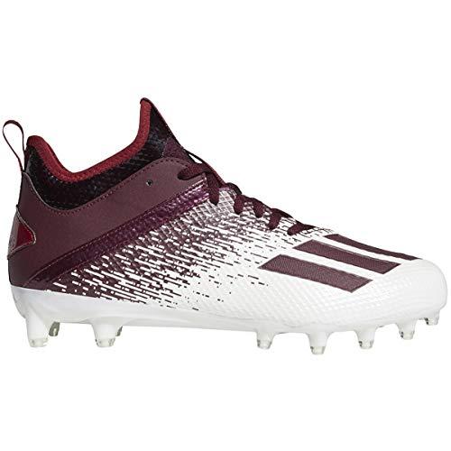 adidas Adizero Scorch Cleat - Men's Football White/Team Maroon