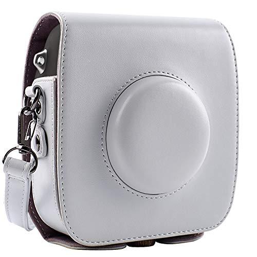 Custodia protettiva per Fujifilm Instax Square SQ10 Hybrid Instant Camera con tracolla regolabile, grigio
