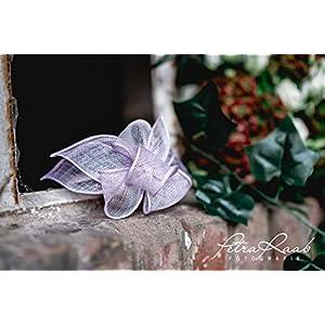 B18 BESTSELLER lila flieder Haarreifen Fascinator Headpieces Headband Bridal flowers Rockabilly Style Oktoberfest…