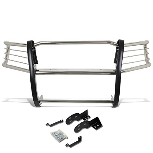DNA MOTORING GRILL-G-060-SS Front Bumper Brush Grille Guard [for 98-04 Tacoma],Silver