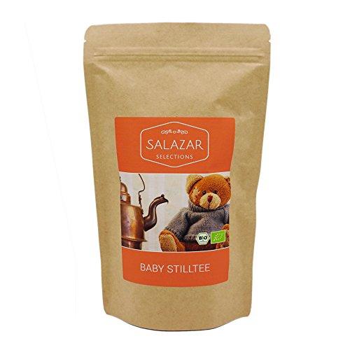 Salazar Baby Stilltee BIO 250g Aromapack | mit Bockshornkleesamen | unterstützt die Milchbildung und beruhigt den Magen | mit Fenchel, Anis, Bockshornklee