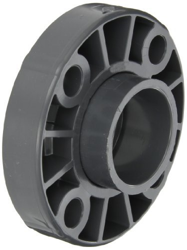 GF Piping Systems PVC Pipe Fitting, Van-Stone Flange, Schedule 80, Gray, 2 Slip Socket by GF Piping Systems