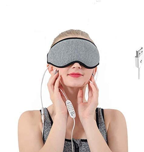 Heated Eye Mask Sleeping Masks ,Weighted Eye mask for Women Warm Compress for Eyes with Relieve Puffy Eyes,Dark Cycles,Tired Eyes Portable USB with Time&Temp Control Warming Washable Gift for Women