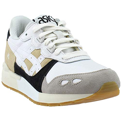 ASICS Womens Gel-Lyte Running Casual Shoes, White, 8