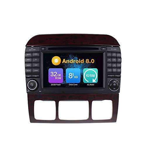 Android 10.0 Stéréo DVD 4G Ram 64G Rom Autoradio GPS La Navigation Radio PourBENZ S-W220 S280 S320 S350 S400 S430 S500(1998-2005)