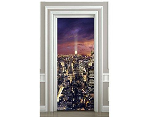 Sticker Porte Déco New York Vue du Ciel- SAPP7092 (73x204cm)