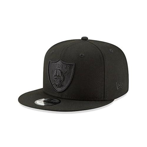 Oakland Raiders New Era Snapback Cap Hat Black on Black f8b722a3e