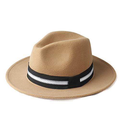 LQ-BNM Panamahut - Winter Fedora hoed, heren en dames zombrero, Church Panama Jazz outdoor reishoed maat 56-58 cm