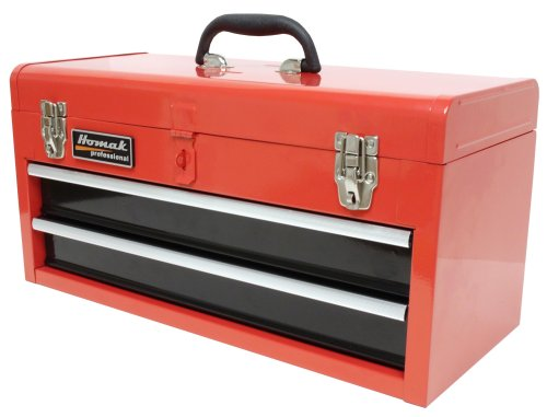 Homak 20Inch 2Drawer BallBearing Toolbox/Chest Red RD01022001