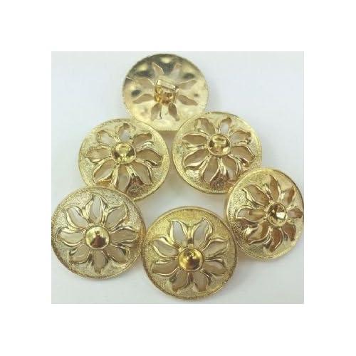 per button 21mm Antique Gold  Button