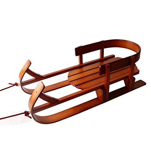 Minmin Trineo Trineo Retro Registro Haciendo puntales de esquí Barco de esquí en Trineo esquí de los niños, 90x39x30cm (Size : 90x39x30cm)