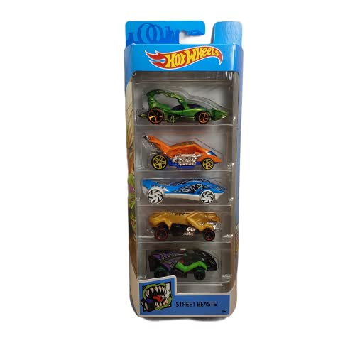 Hot Wheels 2019 Street Beasts 5-Pack (Scorpedo, Turbo Rooster, Super Stinger, Road Cannibal, and Vampyra)