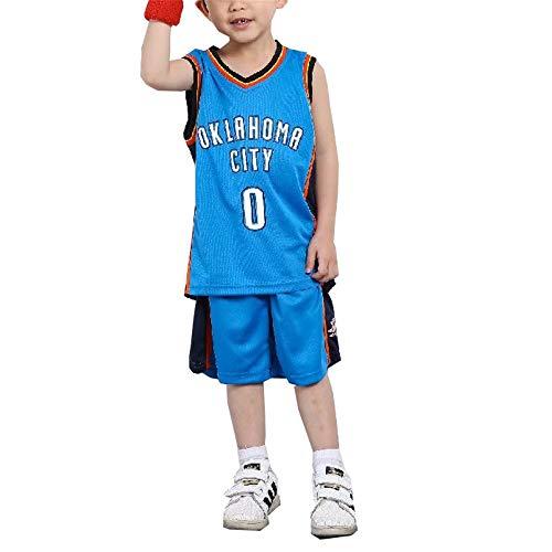 FILWS Jersey # 0 Russell Westbrook Basketballkleidung Kinder Basketball Uniform Set Männer Und Frauen Kinder Trainingskleidung