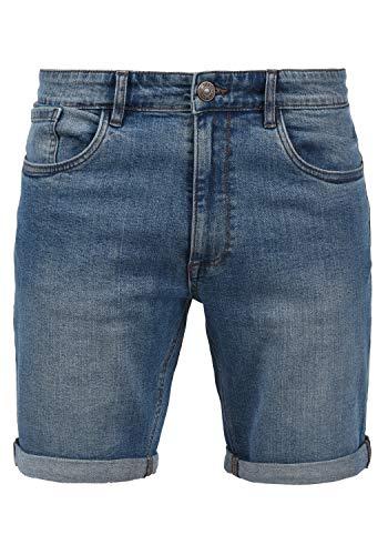 Blend Joel Herren Jeans Shorts Kurze Denim Hose mit leichtem Stretchanteil, Größe:M, Farbe:Denim Lightblue (76200)