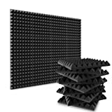 Acoustic Foam, Sound Panels 2 Inch 12 Pack, Bietrun Acoustic Pyramid Foam Sound Absorption Acoustic Treatment Panels for Recording Studio Room Acoustical Treatments(Adhesive Not included)