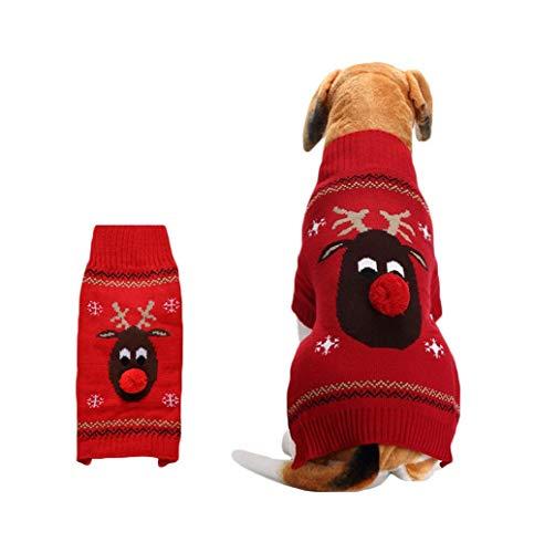 Snaked cat Jersey de Navidad para Mascotas, cálido, para Perro, Gato, Nariz, Ciervo, Ropa de Invierno 🔥