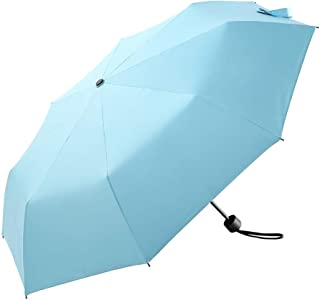 Light Weight Umbrella for Women and Men, Portable UV Protection Windproof, 3 Folding Umbrella, Pink and Blue