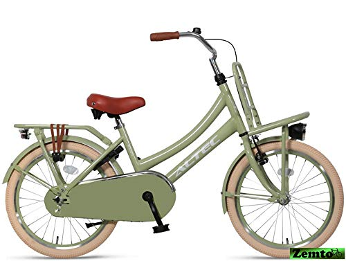 Hoptec Mädchenrad Transportfahrrad Grün 20 Zoll