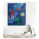 AZTeam Marc Chagall Der Blaue Zirkus Poster Bilder