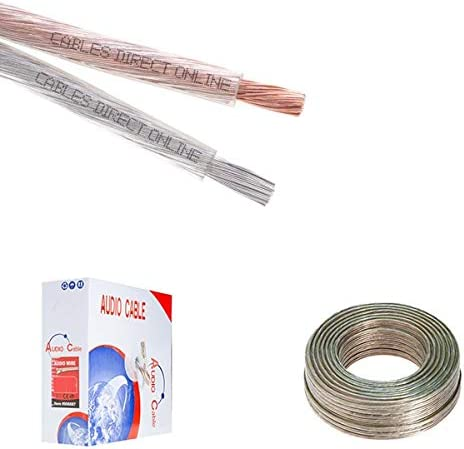 Cables Direct Online 250FT Clear Home Car Speaker Max 76% Weekly update OFF Cable Enhance