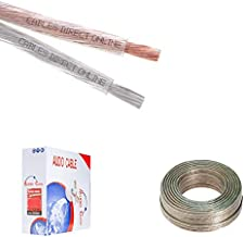 250FT Clear Car/Home Speaker Cable Enhanced Loud Audio Wire 12 Gauge 2 Conductors, 12AWG Bulk Cord (250FT, 12AWG) Transparent
