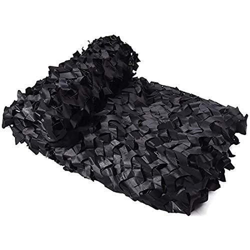HHOSBFSS 2 * 3m 2 * 4m 2 * 5m 2 * 10m Caza Camuflaje Net Woodland Red Cubierta De Coche Tienda Toldo Camping Toldo (Color : Black, Size : 2x3M)