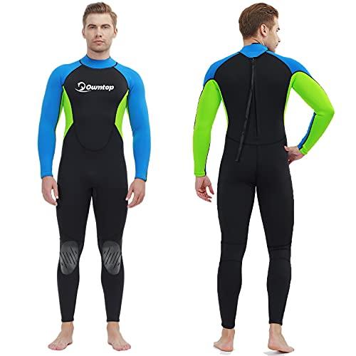Muta da uomo, Costume da bagno in neoprene ultra elasticizzato da 3 mm, muta da sub per tutto il corpo con zip posteriore, per Snorkeling, Subacquea e Altri Sport in Acqua Uomo Muta Monopezzo