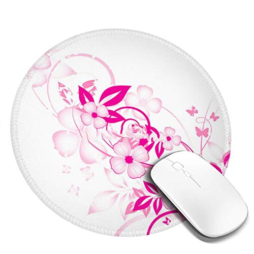 Gaming Mouse Pad for Laptop Round Extended Mouse Pad Non-Slip Base, Water-Resistant, for Work & Gaming, Office & Home 20cm