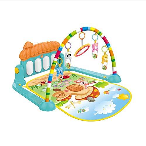 TONGJI Gimnasio Piano Pataditas Manta Actividades Bebe con M/úsica Alfombra de Juegos Manta de Juego para Bebes Recien Nacidos 56 x 74 x 45cm Azul