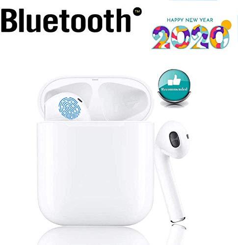 i12 Bluetooth Touch Headset 5.0, kabellose In-Ear-Kopfhörer, Sport-3D-HD-Stereokopfhörer, wasserdichte tragbare IPX7-Mini-Ladetasche für Apple/Airpods/Android/iPhone/Huawei-White
