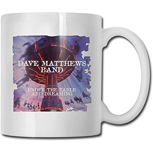 Water sap beker, grappige keramische koffie mokken, nieuwigheid witte thee mok, Dave Matthews Band onder de tafel en dromen porselein beker, voor verjaardag, unieke verjaardagscadeau, 11 Oz